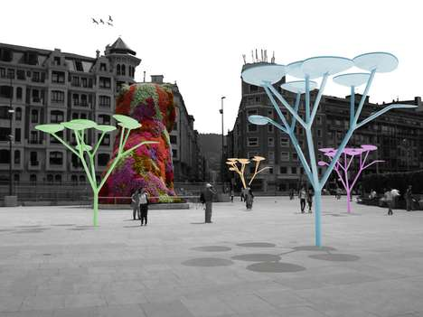 Broadleaf Urban Generators - The uTree Concept Soaks Up the Sun and Supplies the City Grid