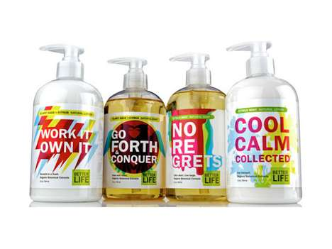 Motivational Cleanser Containers - The 'Better Life' Packaging Gives Your Self-Esteem a Boost