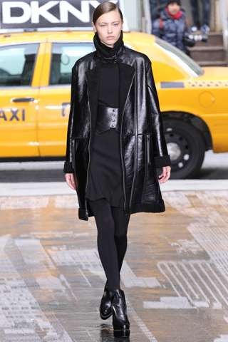 Luxe Leather-Obsessed Collections - The DKNY Fall Presentation Has a Chic New York City Feel