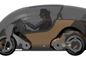 The Bimoped EV Can Go from Automobile to Moped in an Instant
