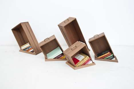 Slowly Sinking Bookcases - Raw Edges' Hole In The Floor is Full of Whimsy and Character