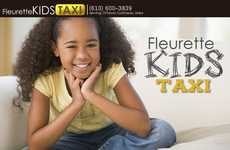 Childish Cabbie Companies - The Fleurette Kids Taxi Takes Children from Play Dates to Practices