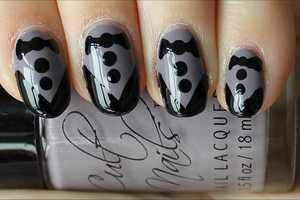 These Tuxedo Nails are Snazzy and Sassy