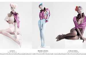 The VMAN 25 Calendar Girls Editorial has a Contemporary Pinup Theme