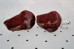 The Steak Cufflinks Will Make Your Wrists Look Raw