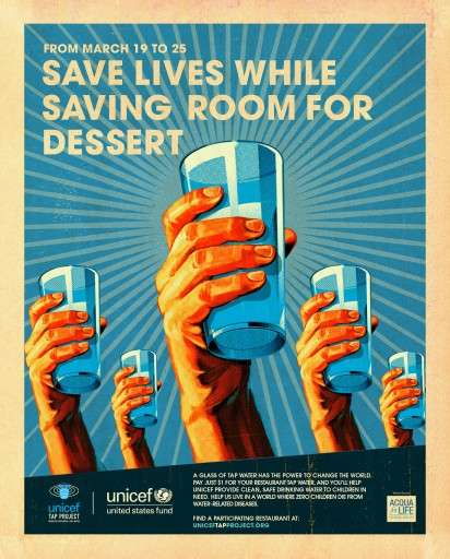 UNICEF Tap Project campaign