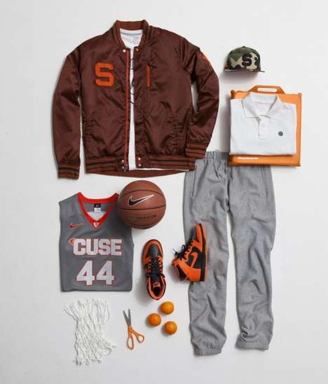 Laid-Out Athletic Lookbooks - Check Out the Nike Sportswear Spring Basketball Collection