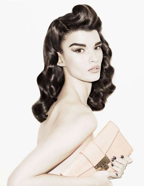 Faded Pin-Up Features - Crystal Renn Stars in a Whiteout Shoot for Muse Magazine Winter 2012