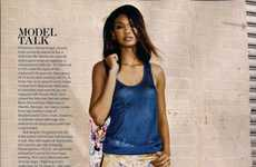 Frenzy-Patterned Fashion - Chanel Iman Dazzles in Printed Frocks for Marie Claire March 2012
