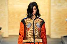 Adorned Eclectic Runways - The Proenza Schouler F/W 12/13 Collection Highlights Vibrant Prints