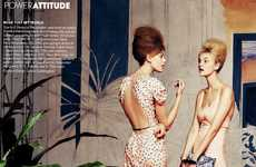 Vintage Silhouetted Shoots - Karlie Kloss and a Handful of Top Models Star in Vogue Us March 2012