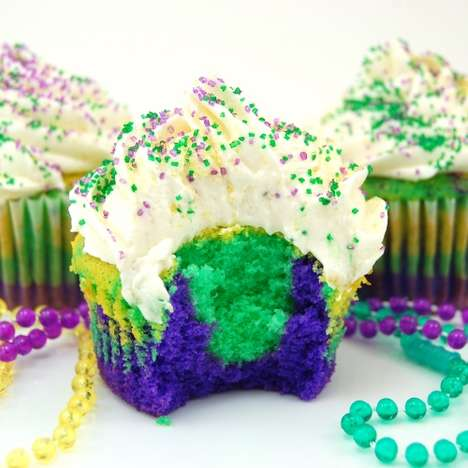 Fat Tuesday Cakes - These Mardi Gras Cupcakes Will Have You Partying With the Best of Them