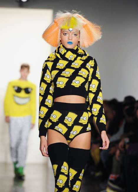 Cartoon Couture - The Jeremy Scott Fall/Winter 2012 Collection is Springfield Sexy