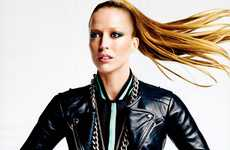 Sporty Leather Shoots - Raquel Zimmerman Stars in a Solo Editorial for Vogue US