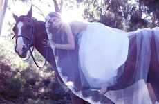 Equestrian Bridal Editorials - The Natascha for Mantilla Bride Shoot is Wildly Romantic