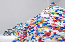 Lego-Inspired Exhibits - The Island of Life Installation by Satoshi Hirose is in Technicolor