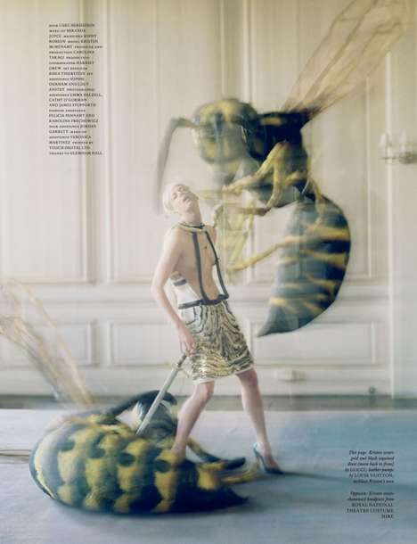 Eerie Insect Editorials - The Origin of Monsters Shoot from Love Magazine Spring 2012 is Creepy
