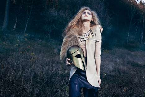 Woman Warrior Editorials - The Marie Schmidt Step Ahead Shoot is Artful and Edgy