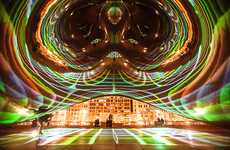 Illuminated Public Sculptures - The Luminous Field Installation Turns Cloud Gate into a Disco Ball