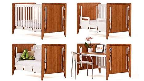 Adaptive Sleep Spaces - The GRO Furniture Modular Crib Grows With Your Little One
