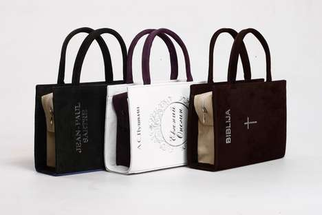 Intellectual Literary Fashion - The A & V Book-Bags Will Inspire Fashionistas to Pick Up a Book