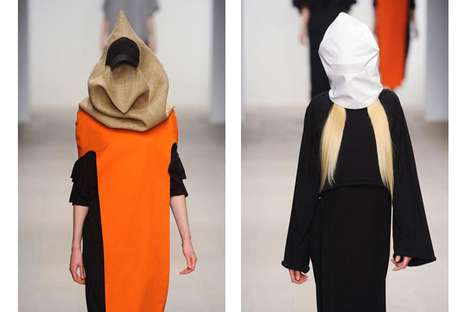Sack Mask Fashion - The Sabina Bryntesson AW12 Collection is Eccentrically Exotic