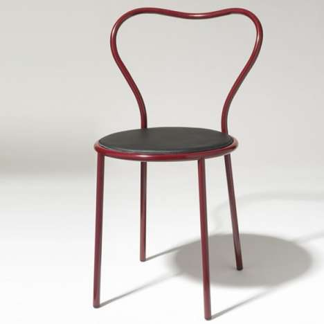 Simplistic Sentimental Seating - The Heart Chair is a Lovey-Dovey Furniture Piece for Your Posterior