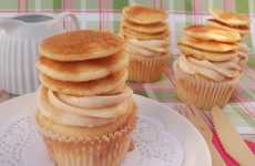 Flapjack Stacked Cakes - These Pancake Cupcakes are the Perfect Way to Celebrate Shrove Tuesday