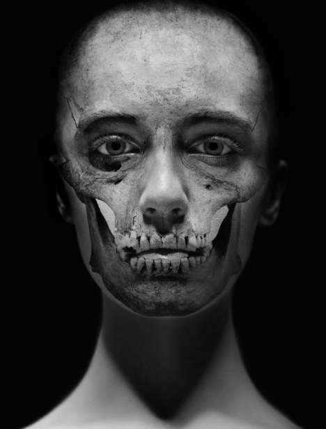 Skull-Faced Photography - Intuition by Carsten Witte is Haunting