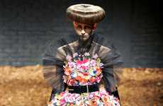 Retro Floral Runways - The MCQ Autumn/Winter 2012/2013 Womenswear Collection is Texture-Rich