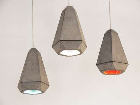 Hung Concrete Lighting  - The Portland Fitting Adds an Industrial Look to Your Home