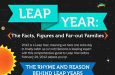 Comprehensive Calendar Guides - The Leap Year Infographic Details the Facts Around February 29