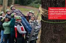 Team-Building Mobile Ads - The Vodafone One Net Campaign is Hilariously Huddled