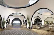 Hobbit Home Airports - The Turkish Airlines CIP Lounge Has a Circular Motif
