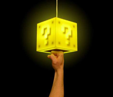 Super Mario Coin Block Pendant Lamp