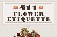 Helpful Gift-Giving Guides - The 411 on Flower Etiquette Infographic is Informative and Interesting