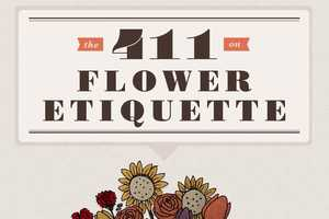 The 411 on Flower Etiquette Infographic is Informative and Interesting