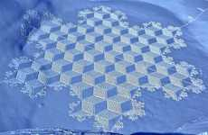 Snowshoe-Patterned Art