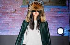 Oversized Fur-Clad Caps
