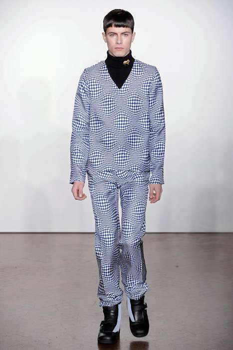 Illusion-Inducing Catwalks - The JW Anderson Fall/Winter 2012 Offers Snowbound Geometrics