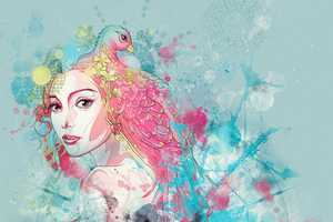 Sean Wei Pairs Beautiful Women with Animals in Colorful Portraits