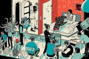 Josh Cochran Illustrates Scenes of People Doing Their Jobs
