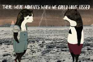 Julia Pott Creates Emotional Illustrations with Contrasting Elements