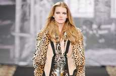 Animal-Adorned Fashion - The Just Cavalli Fall/Winter 2012/2013 Collection is Fierce
