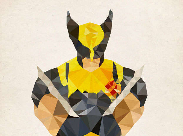 Geometric Avenger Art