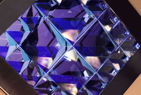 Crystal video sculpture