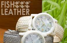 Fish Leather Straps - Sprout Watches Uses Biodegradable Materials and Mercury-Free Batteries