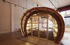 Eco-Friendly Fungus Storefronts - Olson Kundig Architects' Mushroom Farm Features Coffee Compost