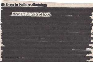 Newspaper Blackout by Austin Kleon is a Series of Intelligent Doodles