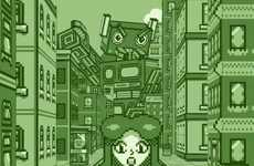 Retro Gaming Metropolises - 'Game Boy City' Depicts a Story Set in an All-Green Town